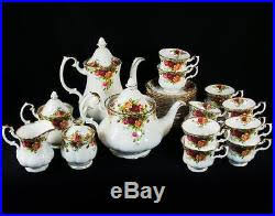 country roses tea set royal albert country roses tea set 31 pc service for 12