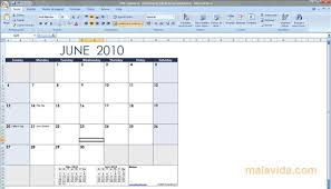 Excel 2010 Calendar Template Excel Calendar Template 1 4 2 Free