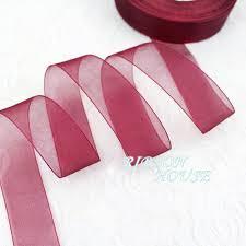 organza ribbon wholesale 50 yards roll 1 25mm wine organza ribbons wholesale gift