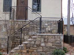Stone Banister Hercules Fence Maryland Steel Fencing Virginia Steel Fences