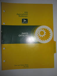 buy john deere 863 agricultural bulldozer dozer parts catalog book