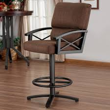 Industrial Bar Stool With Back Furniture Metal Swivel Bar Stools High Back Bar Stools