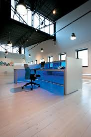 White Reception Desk Blue White Reception Desk Ambience Doré