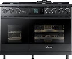 dacor dop48m96dlm 48 inch freestanding dual fuel range with real