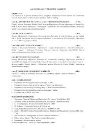 Example Of General Resume by Bcom Cbcs Syllabus