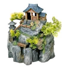 ee 699 u2013 exotic environments asian cottage house w bonsai u2013 blue