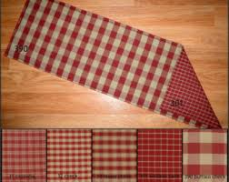 Primitive Table Runners by Burgundy Red And Tan Homespun Quilted Table Runner Placemats