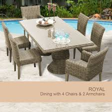 wicker dining table with 6 chairs wicker outdoor dining sets