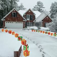 Outdoor Christmas Decorations Presents by Amazon Com Christmas Presents Pathway Markers Set Of 18 Flat