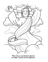 coloring page of jesus ascension printable coloring pages about jesus adult christ loves us barfwa
