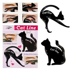 2pcs set beauty makeup cat eye eyeliner stencil new design
