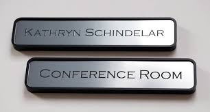 Desk Plates For Offices Engraved Employee Office Signs Interchangeable Name Plates In Silver