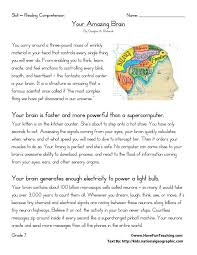 ideas of reading comprehension worksheets for 6th grade printable