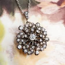 vintage diamond pendant necklace images Antique diamond pendant necklace 1 67ct t w circa 1880 39 s diamond jpg