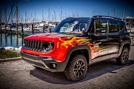 matte red jeep jeep renegade hell u0027s revenge is inspired by harley davidson