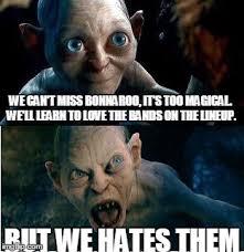 Bonnaroo Meme - gollum imgflip