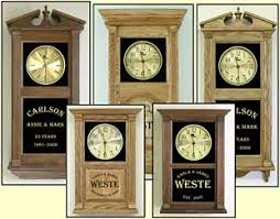 personalized anniversary clock custom personalized clocks personalized wedding clocks etched