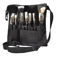 uk professional cosmetic makeup brush a bag artist belt strap holder black