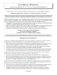 resume project manager resume samples free athletic director and