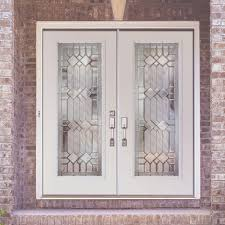 inspiring double fiberglass entry door as furniture for home