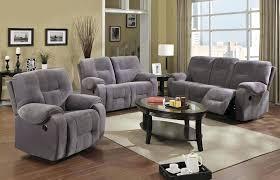 Microfiber Reclining Sofa Grey Reclining Sofa Slisports