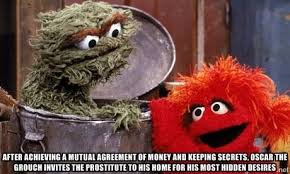 Oscar The Grouch Meme - i wonder what he hides in there or do i want to know