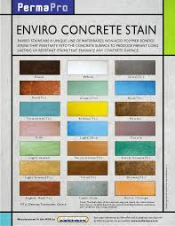 Stain Color Chart Concrete Coating Color Chart Concrete Stain Color Chart Projects To Try Pinterest