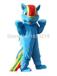 Rainbow Dash Halloween Costume Rainbow Dash Mascot Costume Pegasus Pony Costume