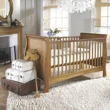 baby nursery modern natural brown varnishes oak wood baby cribs