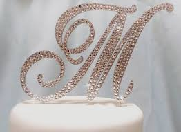 wedding cake toppers initials letter wedding cake toppers beautiful wedding cake topper