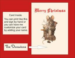 digital printable christmas card personalized printable