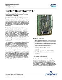 bristol controlwave lp manuals users guides