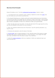 Professional Business Letter Samples by Professional Email Example Sop Example