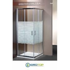 box doccia cristallo 80x80 box doccia quadrato 80x80 cristallo serigrafato 6mm telaio cromato
