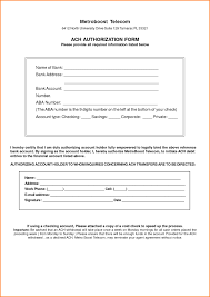 ach authorization form template best template idea with ach