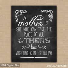 mother u0027s day chalkboard printable mother quote gift for mom