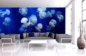 bedroom charming modern family living room blue mural and white