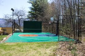 Backyard Basketball Court Ideas by Vermont Custom Nets Backyard Sports Vermont Custom Nets