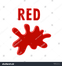 sign red red paint blot on stock vector 469954913 shutterstock