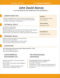 Margins On Resume Format Resume Format Margins
