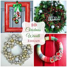 round up monday 10 creative christmas wreath ideas fun home