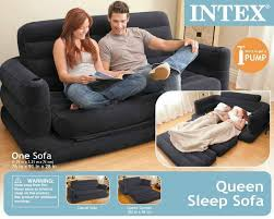 intex queen inflatable pull out sofa bed intex two person inflatable pull out sofa bed sb lg 68566 price