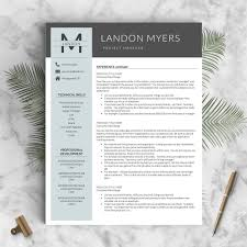 Perfect Resume Templates Professional Resume Template The Landon U2013 Landed Design Solutions