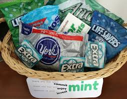 Fitness Gift Basket Thank You For Your Commit Mint These Are For Your Enjoy Mint