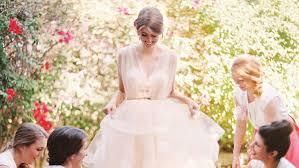 Our Wedding Day Sassy Red 16 pretty in pink wedding dresses martha stewart weddings