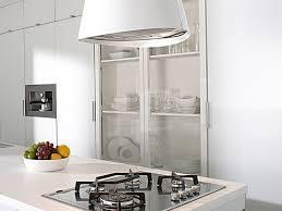 hotte de cuisine ilot hotte cuisine ilot central 3 hotte en acier inox laqu233 blanc