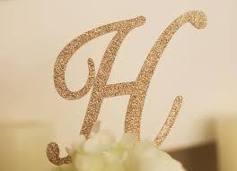 gold monogram cake topper monogram glitter cake topper gold monogram cake toppers