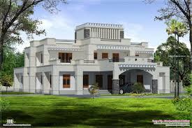 square roof luxury villa exterior kerala home design and floor
