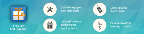 amazing promos with the free gift and discount extension for magento