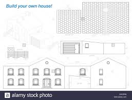 paper model of a house with garage easy to make print it on